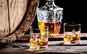 Обои ice, wood, alcoholic beverage, barrel