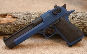 Картинка pistol, Gun, blue, Desert Eagle, handgun