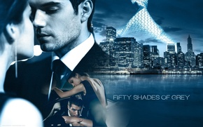 Обои Dakota Johnson, Jamie Dornan, Пятьдесят оттенков серого, Fifty Shades of Grey, фильм