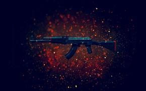Картинка оружие, фон, автомат, калаш, CS:GO