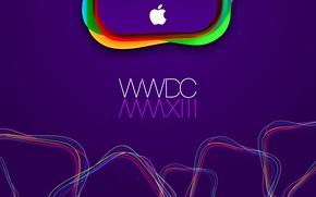 Обои apple, лого, mac, WWDC 2013, WWDC