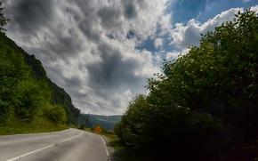 Картинка дорога, горы, кавказ, кабардино-балкария