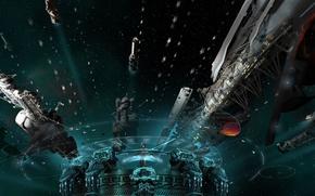 Картинка космос, фантастика, корабли, звёзды, истребители, space, sky, stars, spaceship, крейсер, sci-fi, симулятор, Ender's Game, Enders ...