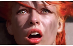 Картинка Milla Jovovich, The Fifth Element, Leeloo, Пятый элемент, Luc Besson