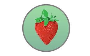 Картинка круг, клубника, ягода