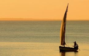 Обои пейзажи, ветер, люди, море, лодки, вода, паруса, океан
