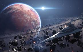 Картинка космос, игры, Космос, Space, Звездный Разрушитель, Star Destroyer, Electronic Arts, DICE, star wars battlefront