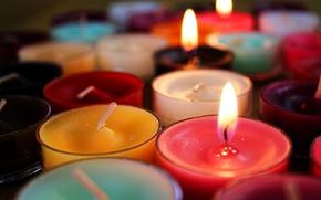 Картинка огонь, свечи, много