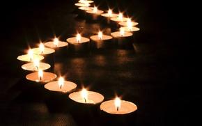 Картинка огонь, волна, свечи