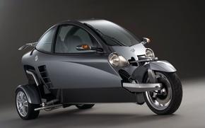 Обои Carver, One, мотоцикл, машина
