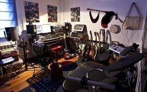 Картинка Инструменты, студия, запись