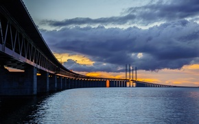 Картинка Bunkeflostrand, Öresund bridge, Skane, Sweden