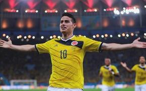Картинка fifa world cup, brazil, 2014, James Rodríguez