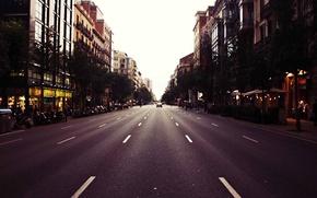 Картинка cars, street, people, Barcelona, Spain, cityscape, traffic light, everyday life, urban scene