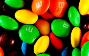 Обои конфеты, драже, цветные, ммдемс