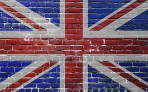 Картинка флаг, кирпичи, великобритания, united kingdom