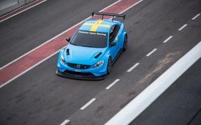 Картинка трасса, Volvo, вид сверху, Трек, S60, 2016, Polestar