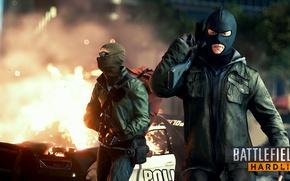 Картинка взрыв, оружие, игра, онлайн, Battlefield Hardline; террористы