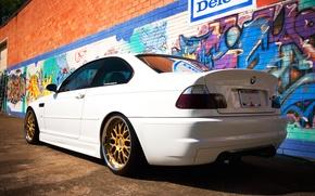 Картинка тюнинг, бмв, BMW, белая, E46