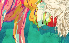 Картинка abstract, animation, woman, art, Colours, slugs