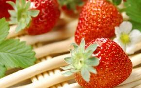 Обои еда, Клубника, ягода, витамины