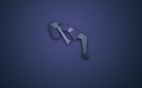 Картинка девушка, синий фон, расслабленность