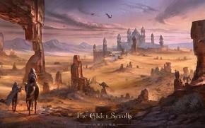 Картинка город, пустыня, The Elder Scrolls, The Elder Scrolls Online, TES Online, Hammerfell, Алик`р, Alik`r, Хаммерфелл