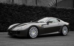 Обои авто, черно-белая, Ferrari, Project Kahn