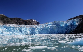 Картинка горы, ледник, Аляска, залив, Alaska, Фьорд Трейси-Арм, Holkham Bay, Tracy Arm Fjord