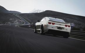 Картинка скорость, трасса, Chevrolet, Camaro