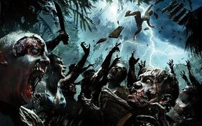 Картинка купальник, пальмы, молния, кровь, остров, зубы, падение, зомби, трупы, NeoGAF, zombi, Deep Silver, Techland, Dead …