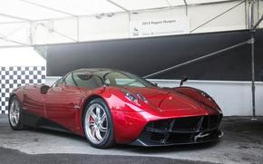 Картинка car, red, super, pagani, huayra