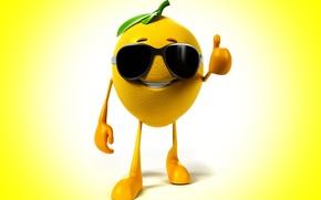 Картинка улыбка, фон, лимон, очки, класс, lemon, smile, background, glasses, class