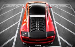 Картинка красный, Lamborghini, red, Gallardo, parking, ламборгини, Super Trofeo Stradale, LP570-4, гайардо