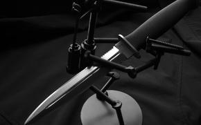 Картинка Нож, подставка, болты