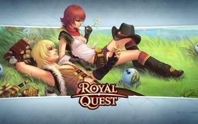 Картинка поле, девушка, парень, Royal Quest, Katauri Interactive
