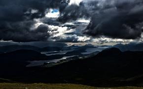 Картинка небо, облака, Норвегия, Norway, dark clouds, More og Romsdal, Skodje