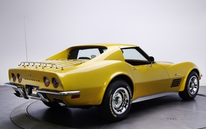 Обои chevrolet, corvette, stingray, c3, 1970, retro, classic, car