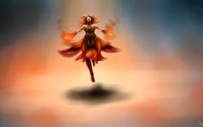 Картинка девушка, огонь, арт, Slayer, Dota 2, Lina