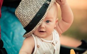Картинка дети, ребенок, шляпа, Малышь