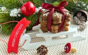 Картинка Новый Год, печенье, Рождество, Christmas, выпечка, сладкое, Xmas, глазурь, cookies, decoration, Merry
