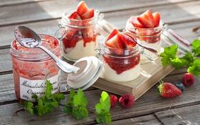 Картинка ягоды, клубника, десерт, джем