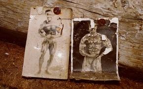 Картинка фото, сарай, старое фото, спортзал