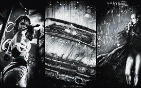 Картинка ретро, черно-белое, cadillac, luis royo, луис ройо