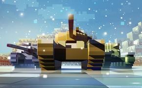 Картинка война, пиксели, танки, game wallpapers, World of Tanks