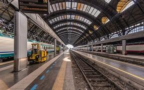 Картинка вокзал, станция, железная дорога, Милан, ж/д