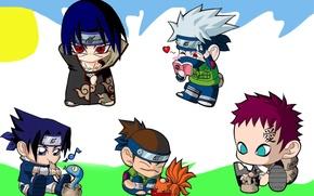 Картинка змея, книга, ниндзя, девятихвостый, Itachi Uchiha, Sasuke Uchiha, девятихвостый лис, аватары, Naruto Shippuden, чибики, Kakashi …