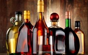 Картинка стакан, алкоголь, форма, бутылки, напитки, разные