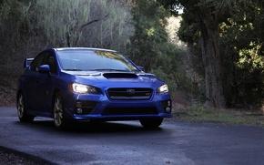 Картинка Subaru, blue, wrx, sti