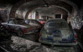 Обои лом, машины, гараж